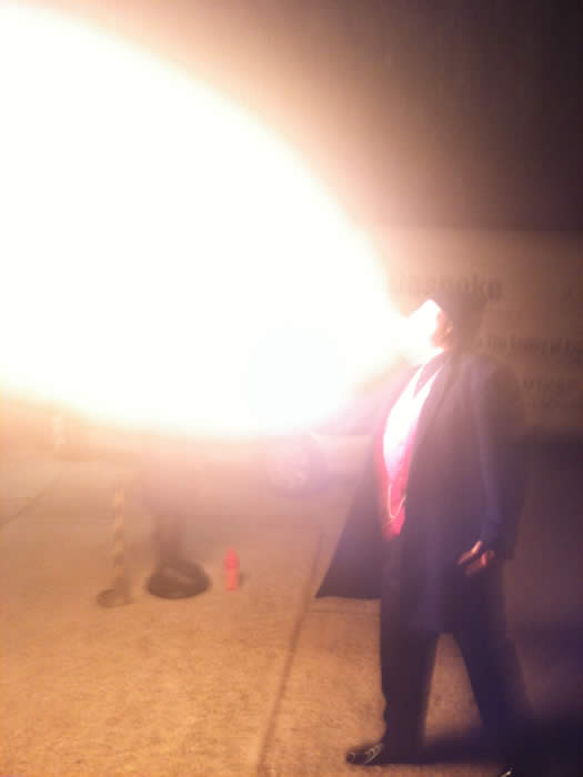 Fire Breather with huge hot flame