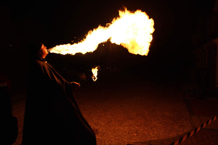 Halloween Fire Breather at a party in Chelmsford Essex