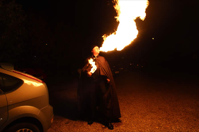 Fire Breathing is an art which is dangerous. Please do not try this at home.
